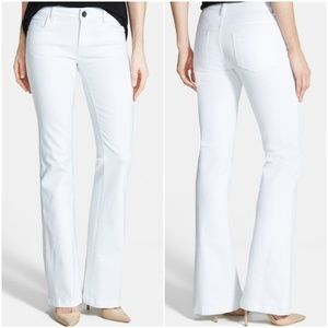 NEW Kut from the Kloth White Chrissy Flare Jeans